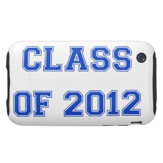 Clase de 2012 - azul tough iPhone 3 funda