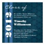 Clase de 2012 azules y de cambio blanco a invitación 13,3 cm x 13,3cm