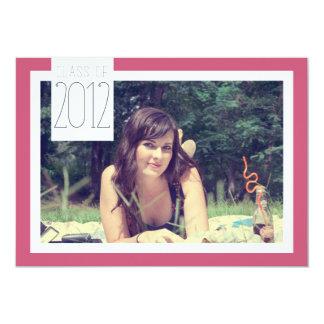 """Clase de 2012 - celebración de la graduación invitación 5"""" x 7"""""""