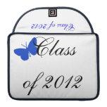 Clase de 2012 - mariposa azul fundas para macbooks