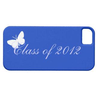 Clase de 2012 - mariposa azul iPhone 5 funda