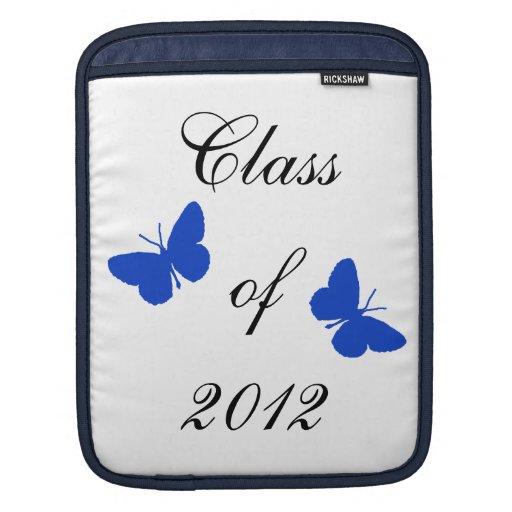 Clase de 2012 - mariposa azul manga de iPad