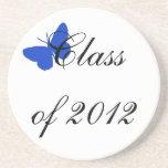Clase de 2012 - mariposa azul posavasos para bebidas