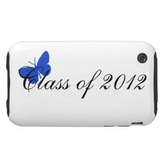 Clase de 2012 - mariposa azul tough iPhone 3 carcasa