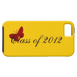Clase de 2012 - mariposa cardinal iPhone 5 carcasa