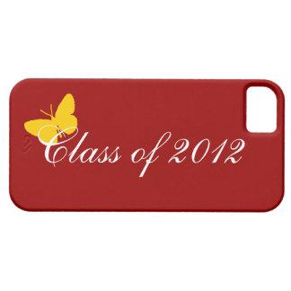 Clase de 2012 - mariposa cardinal iPhone 5 carcasas