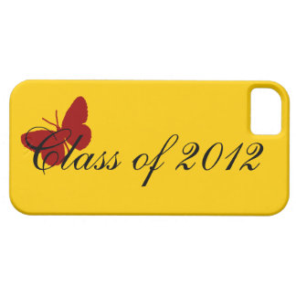 Clase de 2012 - mariposa cardinal iPhone 5 funda