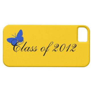 Clase de 2012 - mariposa del azul y del oro funda para iPhone 5 barely there