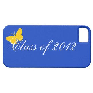 Clase de 2012 - mariposa del azul y del oro iPhone 5 funda