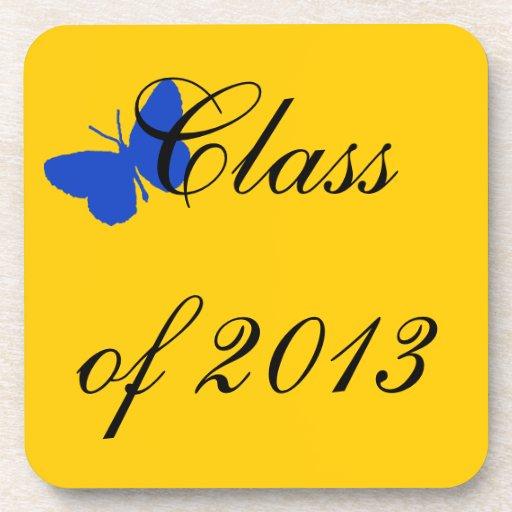 Clase de 2012 - mariposa del azul y del oro posavasos
