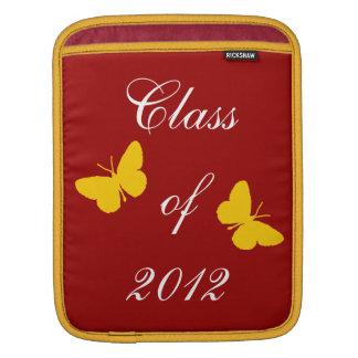 Clase de 2012 - mariposa del cardenal y del oro mangas de iPad