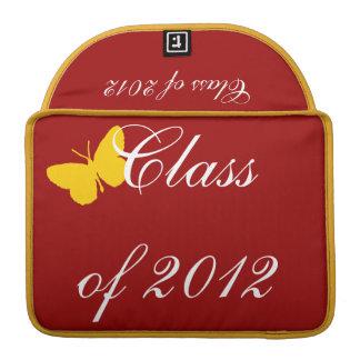 Clase de 2012 - mariposa del cardenal y del oro fundas para macbook pro