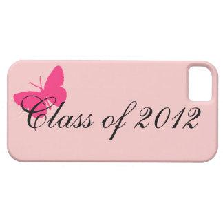 Clase de 2012 - mariposa rosada iPhone 5 carcasa
