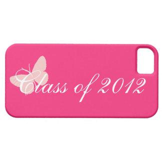 Clase de 2012 - mariposa rosada iPhone 5 funda