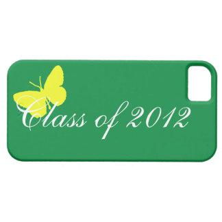 Clase de 2012 - mariposa verde y amarilla funda para iPhone 5 barely there