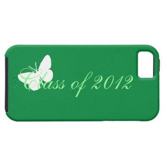 Clase de 2012 - mariposa verde y blanca iPhone 5 carcasa