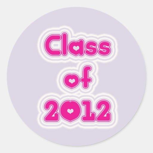 Clase de 2012 pegatina redonda