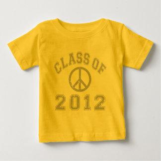 Clase de 2012 playera para bebé