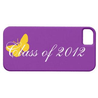Clase de 2012 - púrpura y oro iPhone 5 carcasa