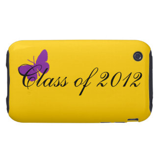 Clase de 2012 - púrpura y oro tough iPhone 3 carcasas
