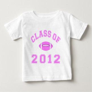 Clase de 2012 - rosa del fútbol remeras