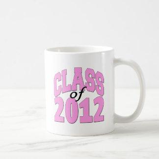 Clase de 2012 (rosa) taza