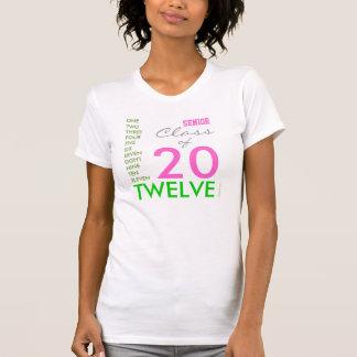 Clase de 2012 rosados y de camiseta para mujer