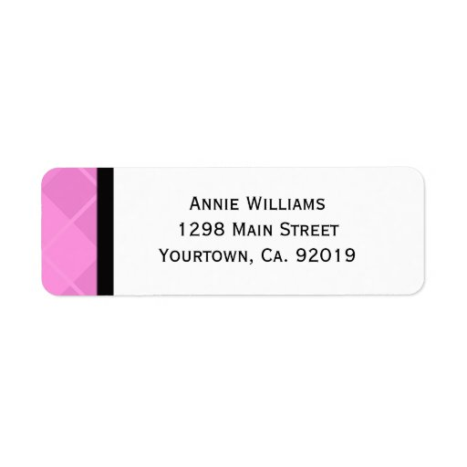 Clase de 2012 rosados y de graduación negra etiqueta de remite