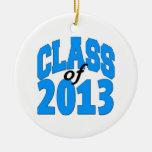 Clase de 2013 (azul) ornamento de navidad