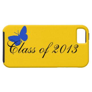Clase de 2013 - azul y oro iPhone 5 carcasa