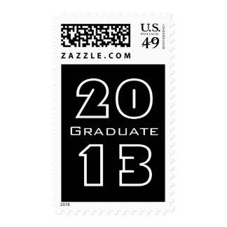Clase de 2013 blancos y negros graduados sello