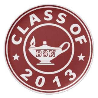 Clase de 2013 BSN Plato De Cena