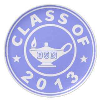 Clase de 2013 BSN Platos De Comidas