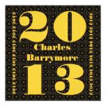 Clase de 2013 o cuaesquiera oros V2 del negro de Anuncios Personalizados