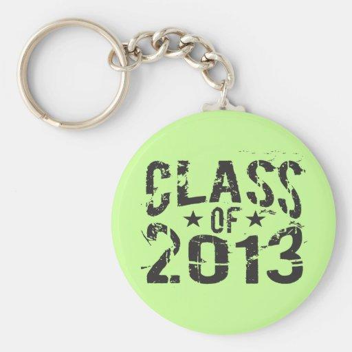 Clase DE 2013 para el graduado mayor fresco Llavero Personalizado