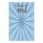 Clase de 2014 azules y de plata papelería personalizada
