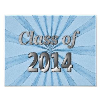 Clase de 2014 azules y de plata cojinete