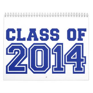 Clase de 2014 calendario