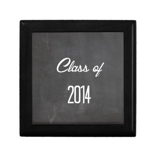 clase de 2014 joyero cuadrado pequeño