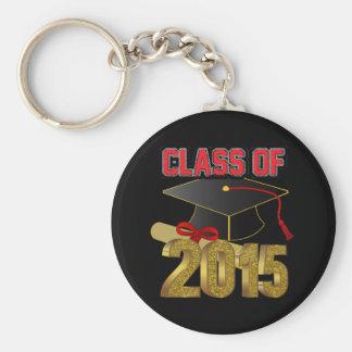 """Clase de 2015 2,25"""" llavero básico del botón"""