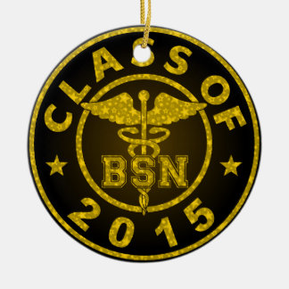 Clase de 2015 BSN Adorno Navideño Redondo De Cerámica