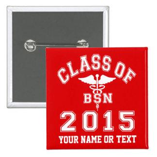 Clase de 2015 BSN Pin Cuadrado
