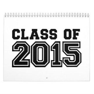Clase de 2015 calendario