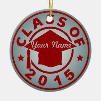 Clase de 2015 adorno redondo de cerámica