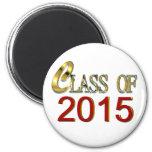 Clase de 2015 en rojo e imán de la graduación del