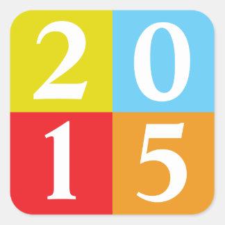 Clase de 2015 colcomanias cuadradas personalizadas