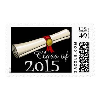 Clase de 2015 sellos del diploma del personalizado