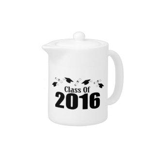 Clase de 2016 casquillos y diplomas (negro)
