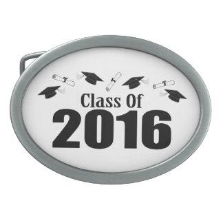Clase de 2016 casquillos y diplomas (negro) hebillas cinturon ovales