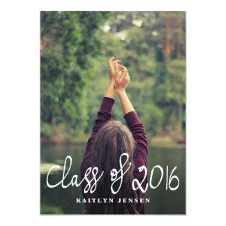"""Clase de 2016 fotos casuales del graduado de la invitación 5"""" x 7"""""""